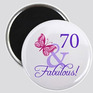 70 And Fabulous Magnet