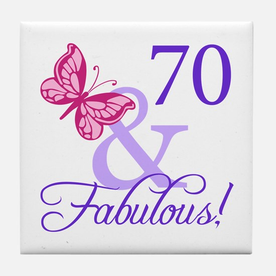 70 And Fabulous Tile Coaster