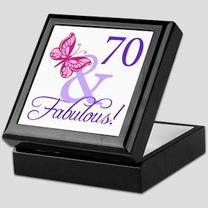 70 And Fabulous Keepsake Box