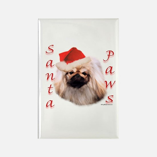 Santa Paws Pekingese Rectangle Magnet
