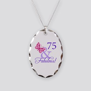 75 And Fabulous Necklace Oval Charm