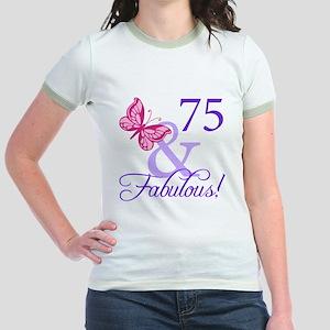 75 And Fabulous Jr. Ringer T-Shirt