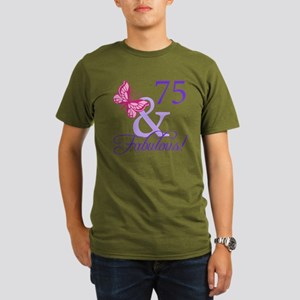 75 And Fabulous Organic Men's T-Shirt (dark)