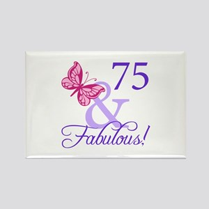 75 And Fabulous Rectangle Magnet