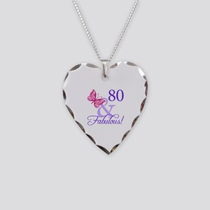80 And Fabulous Necklace Heart Charm