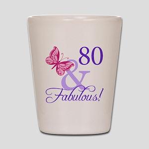 80 And Fabulous Shot Glass