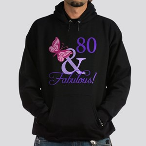80 And Fabulous Hoodie (dark)