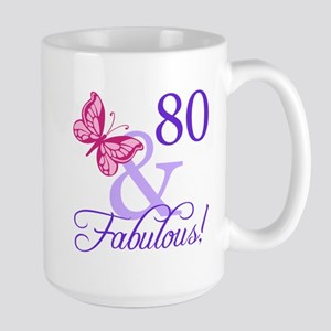 80 And Fabulous Large Mug
