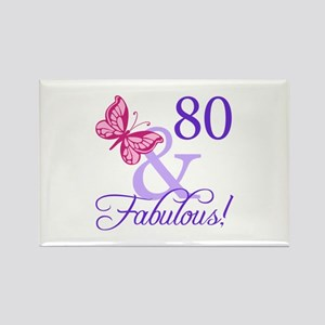 80 And Fabulous Rectangle Magnet