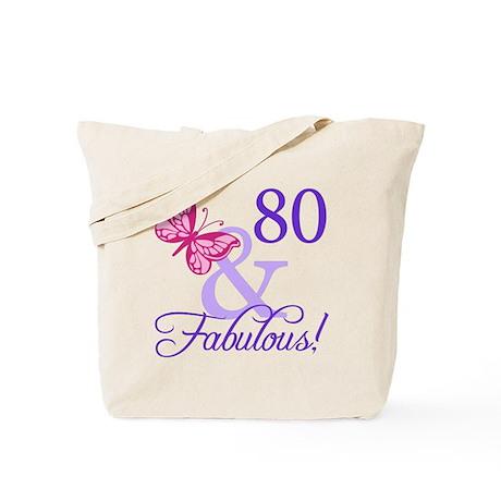 80 And Fabulous Tote Bag
