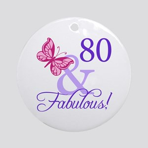 80 And Fabulous Ornament (Round)