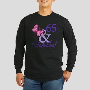 65 And Fabulous Long Sleeve Dark T-Shirt