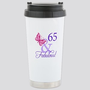 65 And Fabulous Stainless Steel Travel Mug