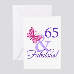 65 And Fabulous Greeting Card