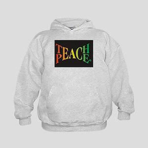 Teach Peace Kids Hoodie