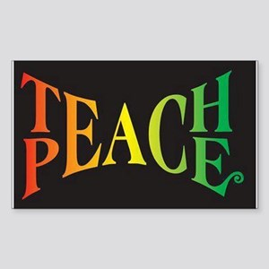 Teach Peace Sticker (Rectangle)