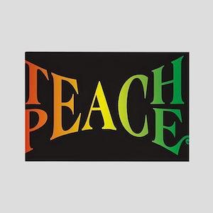 Teach Peace Rectangle Magnet