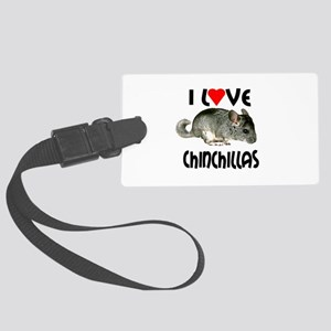 I Love Chinchillas Large Luggage Tag