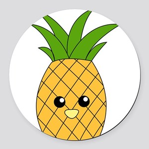 Pineapple Round Car Magnet