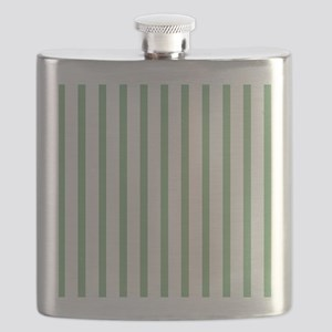 Green and white Thin Stripes Flask