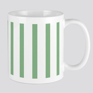 Green and white Thin Stripes Mug
