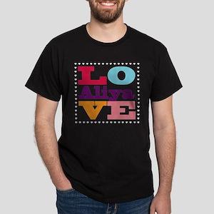 I Love Aliya Dark T-Shirt