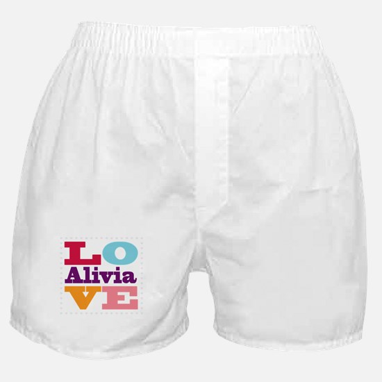 I Love Alivia Boxer Shorts