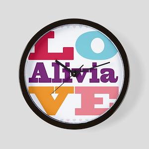 I Love Alivia Wall Clock