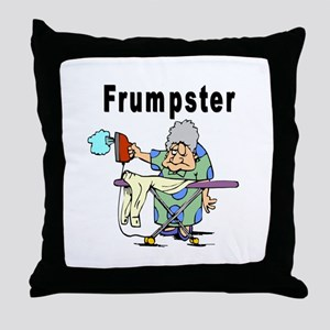 Jewish Frumpster Throw Pillow