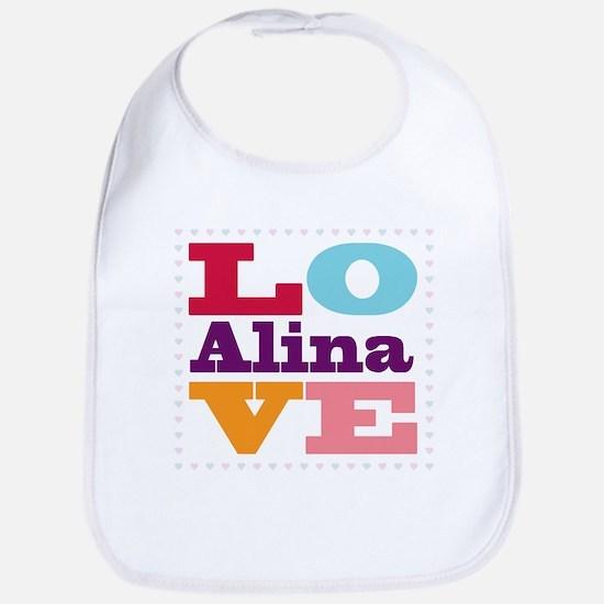 I Love Alina Bib