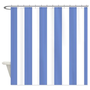 Blue White Striped Shower Curtains