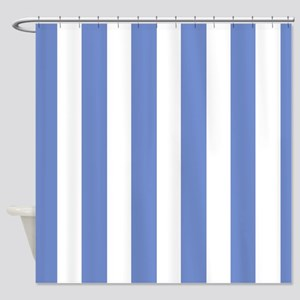 Blue White Striped Shower Curtains Cafepress