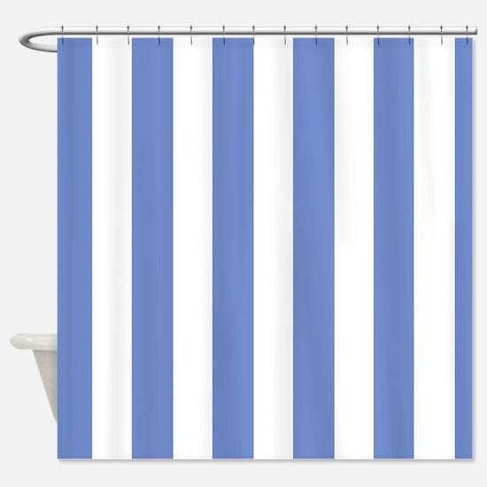 Sky Blue Stripes Shower Curtain