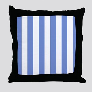 Sky Blue Stripes Throw Pillow