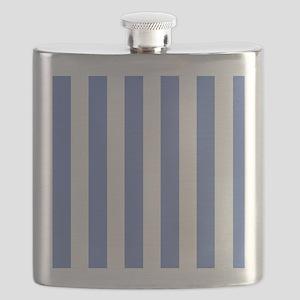 Sky Blue Stripes Flask
