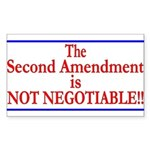 NOT NEGOTIABLE Sticker (Rectangle)