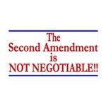 NOT NEGOTIABLE 35x21 Wall Decal