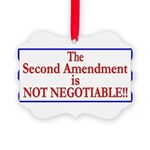 NOT NEGOTIABLE Picture Ornament