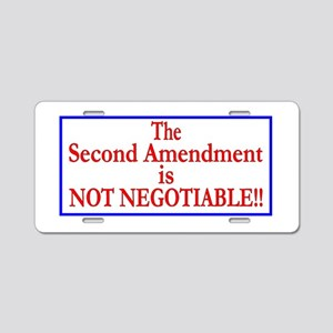 NOT NEGOTIABLE Aluminum License Plate