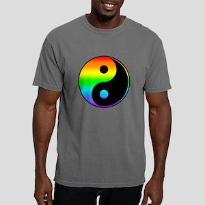 Rainbow Yin Yang Symbol Mens Comfort Colors Shirt