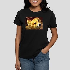 I support Corgi Rescue Women's Dark T-Shirt
