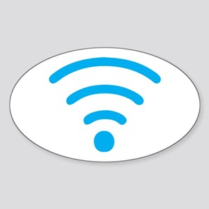 FREE Wireless Internet Sticker (Oval)