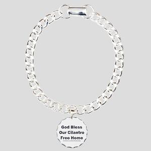 God Bless Our Cilantro Free Home Charm Bracelet, O