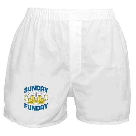 Sunday Funday Drinking Shirt Boxer Shorts