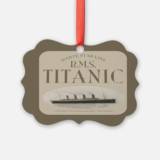 RMS Titanic Ornament (dark border)