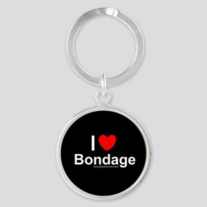 Bondage Round Keychain