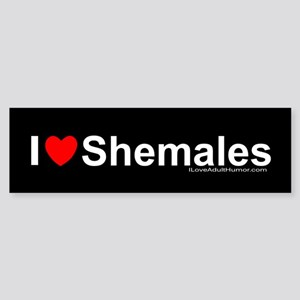 Shemales Sticker (Bumper)