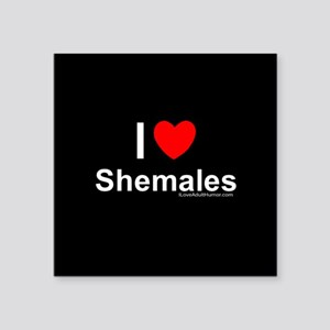 "Shemales Square Sticker 3"" x 3"""