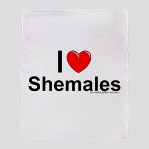 Shemales Throw Blanket
