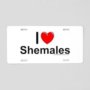 Shemales Aluminum License Plate